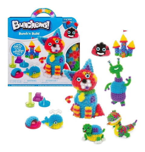 Bunchems Forma Y Crea Moldes Figuras Kit 400 Pzs Spin Master