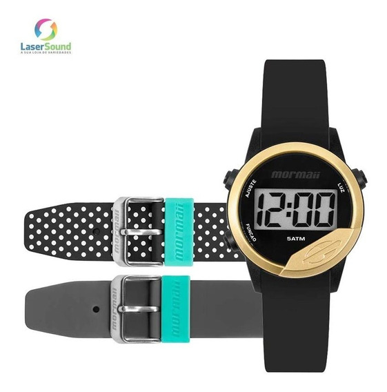 Relógio Mormaii Mude Unissex Mo4100ad/8d + 2 Pulseiras C/ Nf