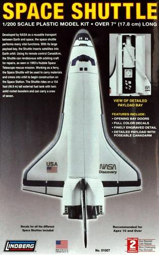 Space Shuttle (kit Plástico), 1/200. Lindberg Usa.