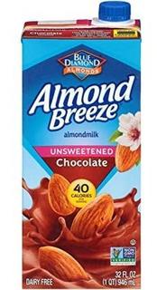 Almond Breeze Lácteos Leche De Almendra, Chocolate Sin Azúca