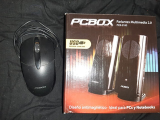 Parlantes Para Pc + Mouse Pcbox