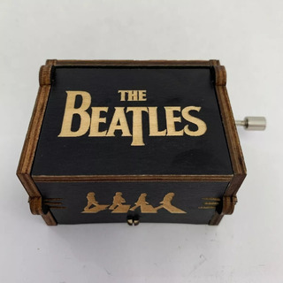 Caja Musical The Beatles Let It Be Madera Negro Coleccion