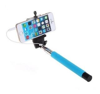 Bastão De Selfie Stick Celular Smartphone Azul