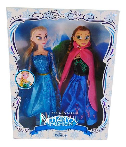 Boneca Tipo Barbie Frozen Elza Ana 30 Cm