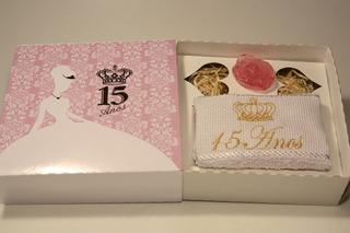 15 Anos Debutante Toalha E Sabonete Rosa 10 Unidades