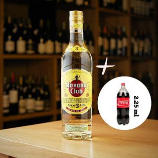 Havanna 3 Años 750ml + Coca Cola 2.25ml