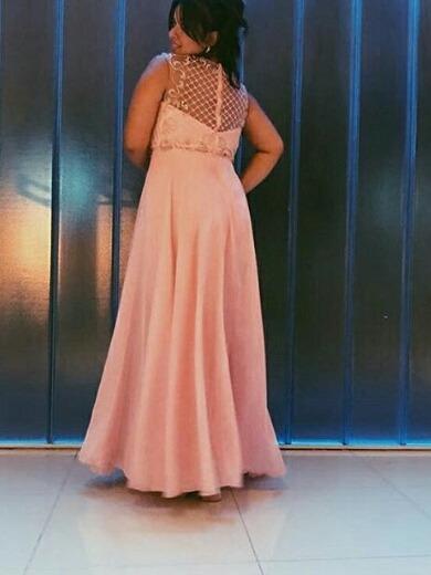 Vestido Alta Costura Bordado Un Solo Uso