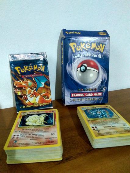 Coleção Pokemon - Base Set - 107 Cartas + Álbum Protetor