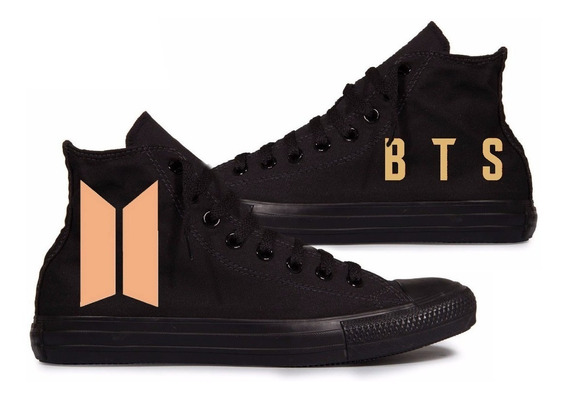 All Star Bts Bang Tang Boys Converse Black Edition Custom