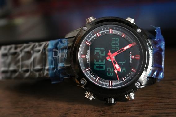 Relógio Masculino - Naviforce 9050 -original- A Prova D