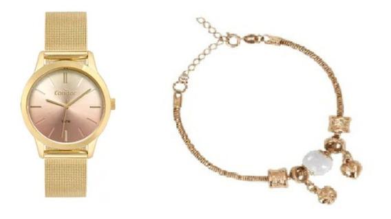 Kit Relógio Condor Feminino Co2035mtd/k4m
