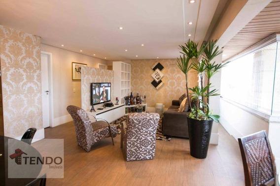 Apartamento 128 M² - 3 Dormitórios - 3 Suítes - Centro - Santo André/sp - Ap0706