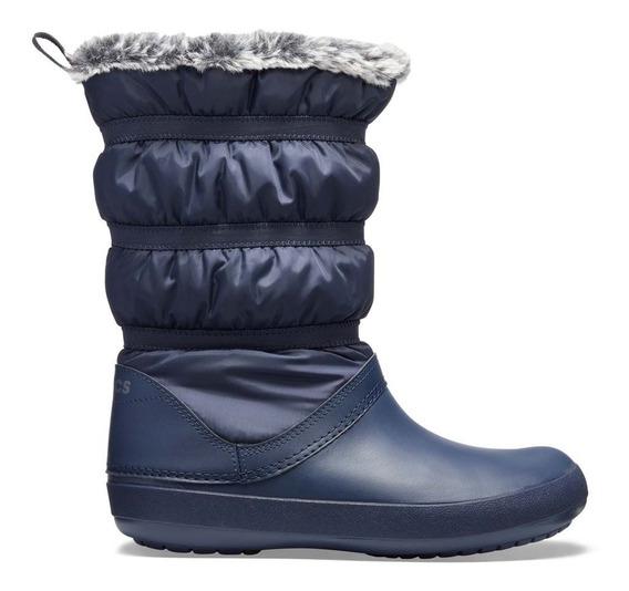 Bota Crocs Dama Winter Poof Boot Azul Marino