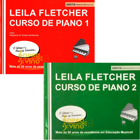 Kit Método Leila Fletcher Course 1 E 2 Audios Curso De Piano