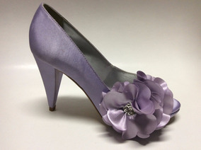 Sapato Numero 33 Flor Noiva 15 Anos Festa Cetim Lilás