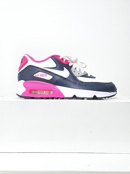 Tênis Nike Air Max 90 Couro Feminino Original 2 Cores N. 35 (6 Usa)