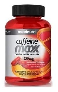 Caffeine Maxx (cafeína) 420mg 120cps - Maxinutri