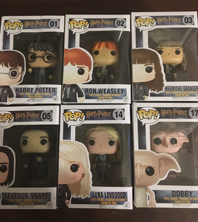 Funko Pop Harry Potter Hermione Ron Doby Snape Luna. Envios