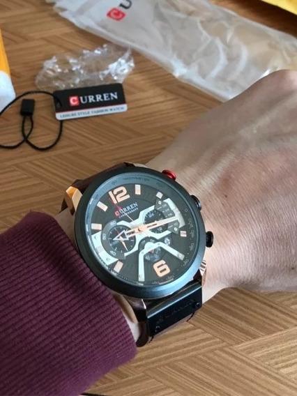 Relógio Sport Casual Masculino De Luxo Pulseira Em Couro