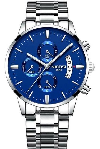 Relógio Nibosi Nf2309 Prateado