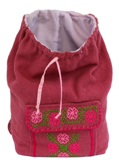 Mochila Artesanal Bordada A Mano - Backpack - Viaje - Bolsas