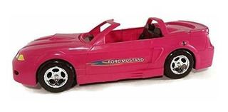 Ford Mustang Glam Convertible Rosa Para Muñecas (ideal Para