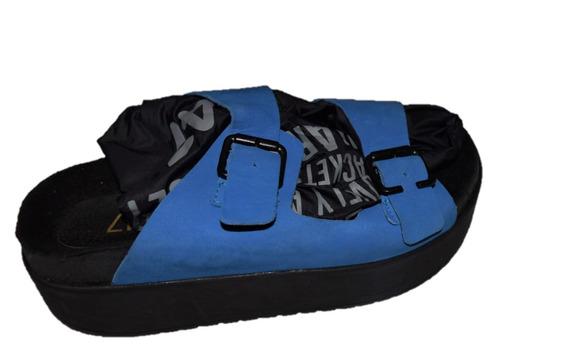 47 Street Sandalias Color Azul Con Hebillas Promo