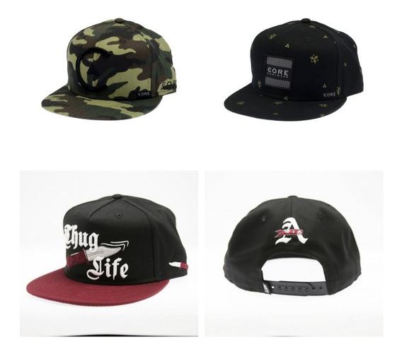 Lote 3 De Gorras Core Antifashion Skate Snapback Hiphop