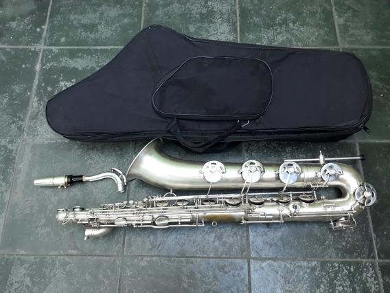 Sax Baritono Galasso Orig Prata La Grave Saxofone De Luthier