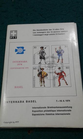 Sobre C/tarjetas Mens.antiguos Suiza -cantones Suizos 1974