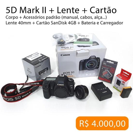 Canon 5d Mark Ii - Completa (só Corpo Ou Kit)