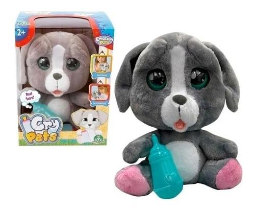 Mascota Interactiva Cry Pets Llora Peluche Perrito Caffaro
