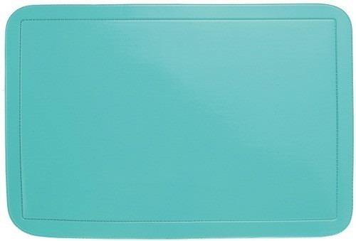 10 Jogo Americano Pvc Azul Turquesa Fácil Limpeza Ref 1451