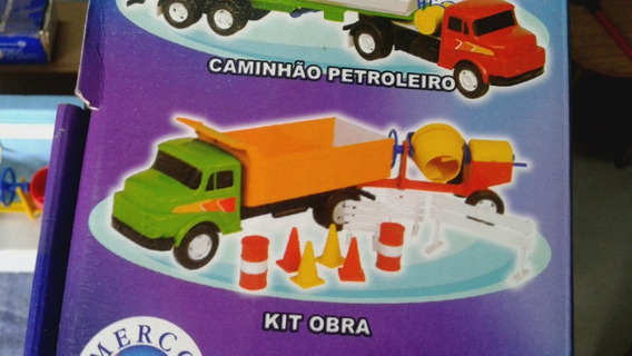 Caminhao Cacamba Kit Obra Mercotrans Escala 1/28 M Benz 1112