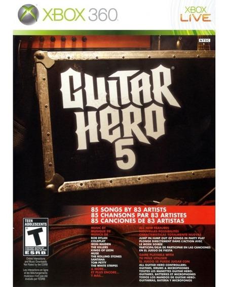 Usado Jogo Xbox 360 Guitar Hero 5 - Activision