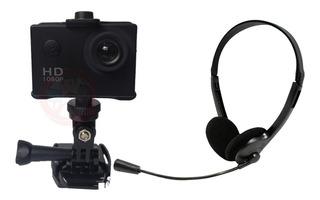 Combo Camara Webcam Hd Pc Computadora Audifonos Microfonos