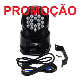 Moving Head 18 Leds 3w Rgb Dmx Strobo Dj 12x S Juros F Grats