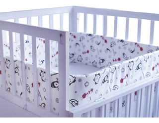 Protector De Cuna Crib Bumper Comodísimos Tela Estampada