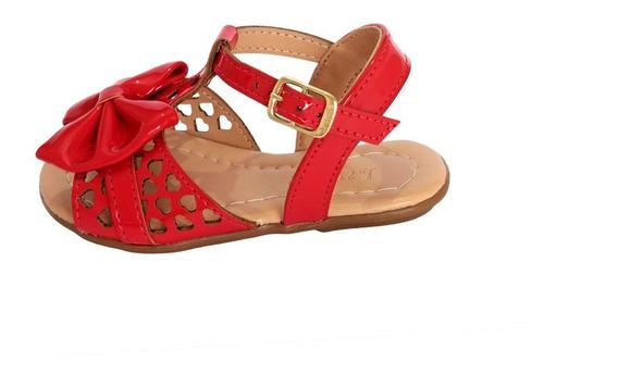 Sandalia Vermelha De Bebe Infantil Rasteirinha Tope Vermelho