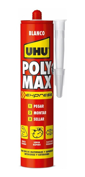 Uhu Poly Max Express Blanco 425g Adhesivo Montaje Y Sellador