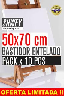 Pack X 10 Bastidor Entelado Shwey 50x70 !! Envio Gratis !!