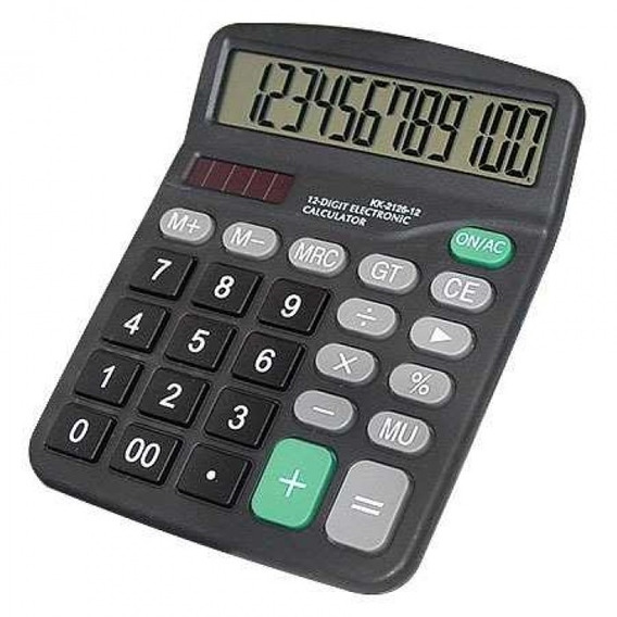 Calculadora De Mesa Display 12 Digitos Importada Kk-837b