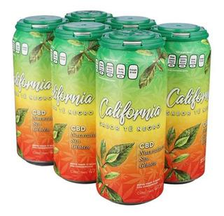 California Bebida Cb Life Te Negro Six Pack Lata 473 Ml