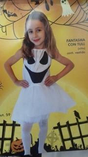 Disfraz Fantasma Con Tul Halloween Nena