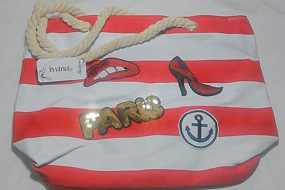 Bolsa De Lona C/ Alça De Corda - Ivana Fashion - Original