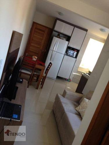 Imagem 1 de 21 de Imob01 - Cobertura 49 M² - Venda - 2 Dormitórios - Utinga - Santo André/sp - Co0107