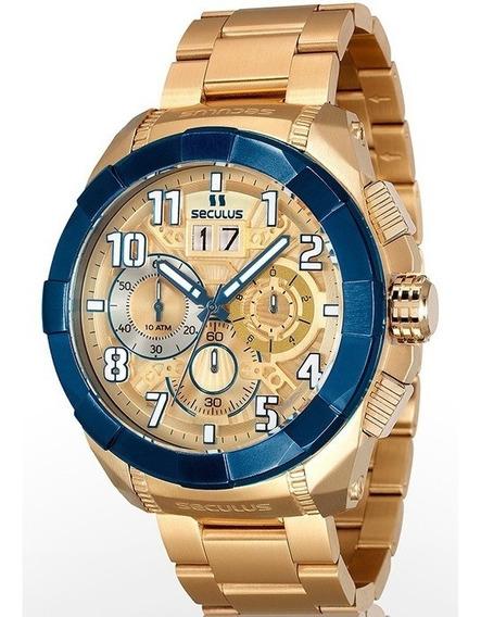 Relógio Seculus Masculino 13009gpsvla2