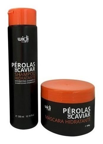 Manutenção Pérolas De Caviar: Shampoo E Máscara 300g Widi