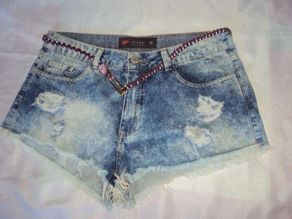 Short Jeans Feminino Pool Tamanho 42 = R