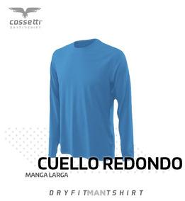 Playera Cuello Redondo Cossetti Manga Larga Dry Fit Xl, 2xl